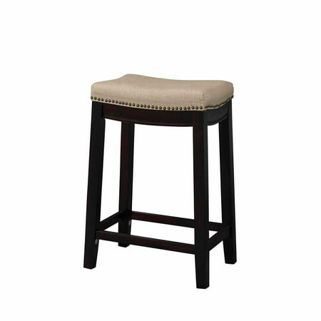 Admirable Linon Hampton Fabric Top Counter Stool Beige 24 Inch Seat Height Cjindustries Chair Design For Home Cjindustriesco