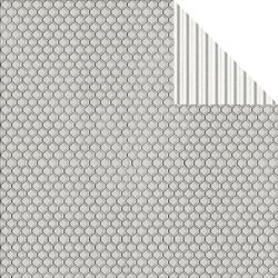 Bulk Buy: FabScraps Scapbooking (25-Pack) Elegant Chic Double Sided Cardstock 12'X12' Honeycomb C71008