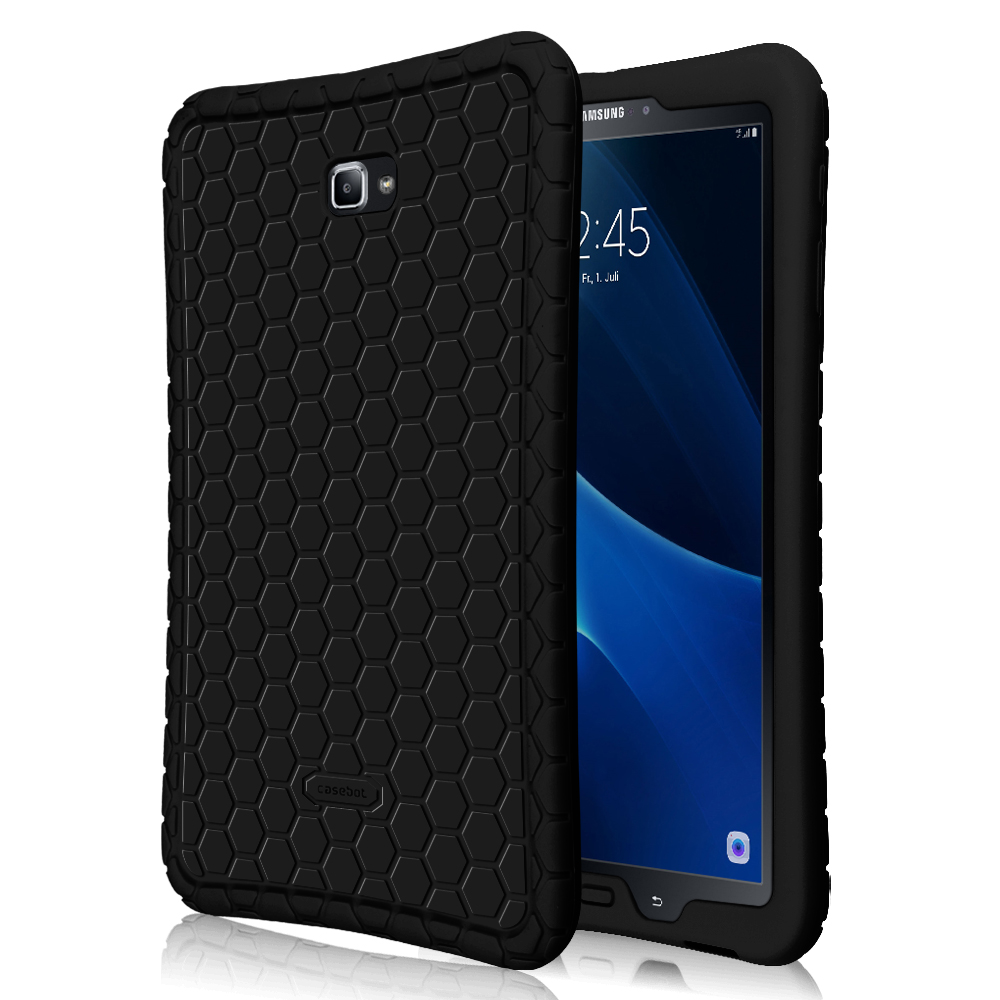 For Samsung Galaxy Tab A 10.1 Case - Lightweight Shockproof Silicone Protective Cover Anti Slip [Kids Friendly],Black