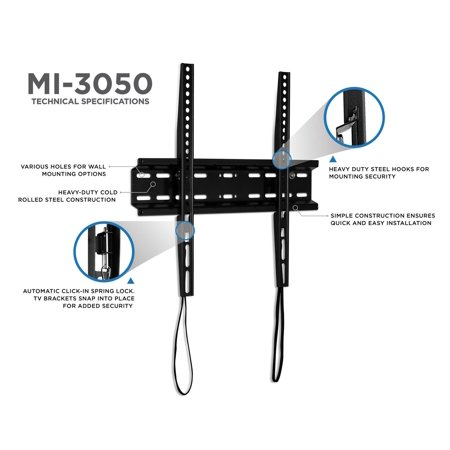 Mount-It! Low Profile TV Wall Mount | Fixed TV Bracket  | 32
