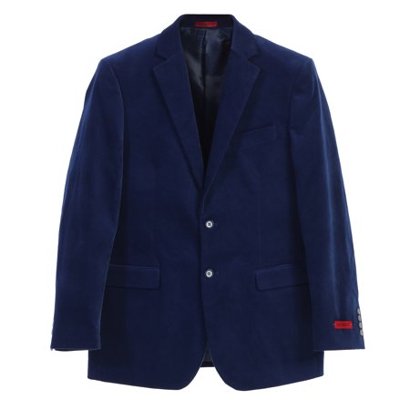 Gioberti Mens Velvet Two Button Vent Blazer Jacket - Velvet Blazer
