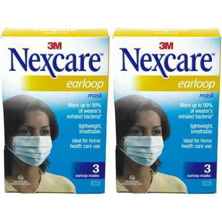 2 Earloop (2 Pack Nexcare Earloop Masks 3 Count)
