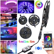 5M/3M/1M LED Strip Lights, TSV Bluetooth LED Light Strips Wireless Music RGB Tape Lights with Remote Color Changing Rope Lights Smart Phone App Controlled for Home Parties Birthday Bar Club Decoration