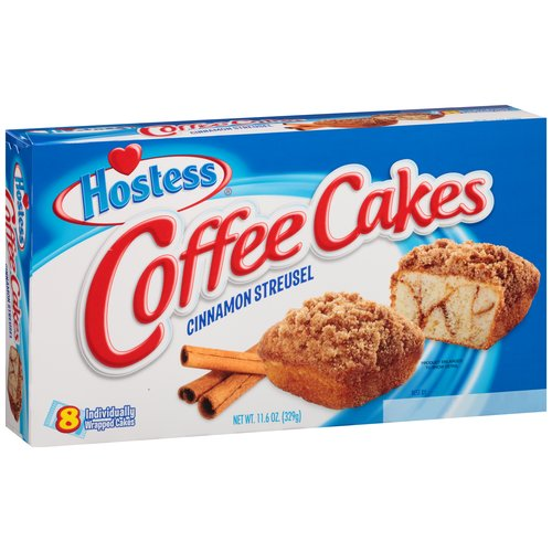 hostess coffee cake hostess cinnamon streusel coffee cakes 8 ct 11 6 oz 4852