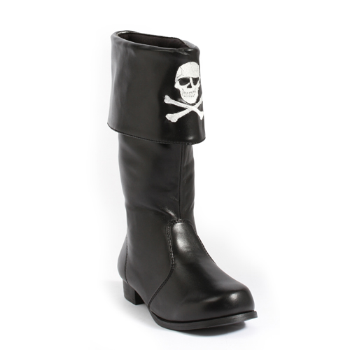 "Girls Pirate with Skulls 1"" Costume Boots by ELLIE SHOES"