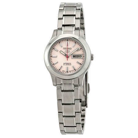- Seiko Series 5 Automatic Pink Dial Ladies Watch SYMD91
