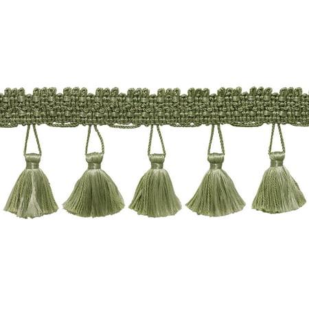 - 10 Yard Value Pack of 2.5 Inch SAGE GREEN Tassel Fringe Trim, Basic Trim Collection, Style# ETF Color: L83 (30 Ft / 9.1 Meters)