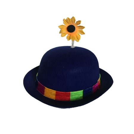 Clown Hats For Sale (Clown Bowler Derby Hat with Daisy)