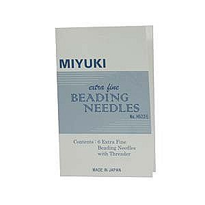 - Miyuki Extra Fine Beading, Needles 6 Pc + Threader - JPN156
