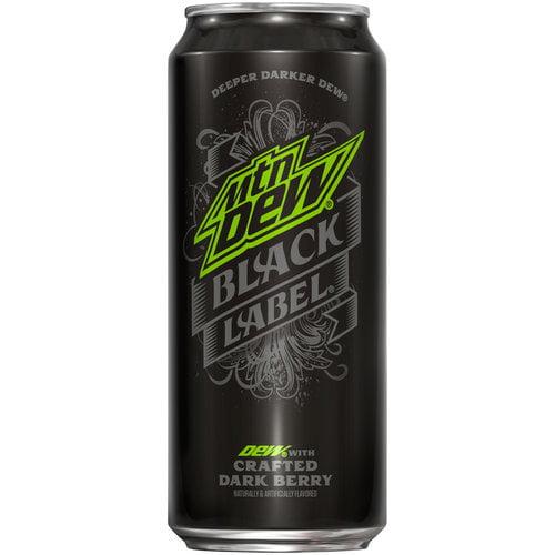 Mountain Dew Black Label Soda, 16 fl oz, 6 pack