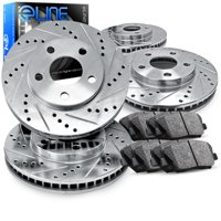 [COMPLETE KIT] eLine Drilled Slotted Brake Rotors & Ceramic Pads CEC.6306502