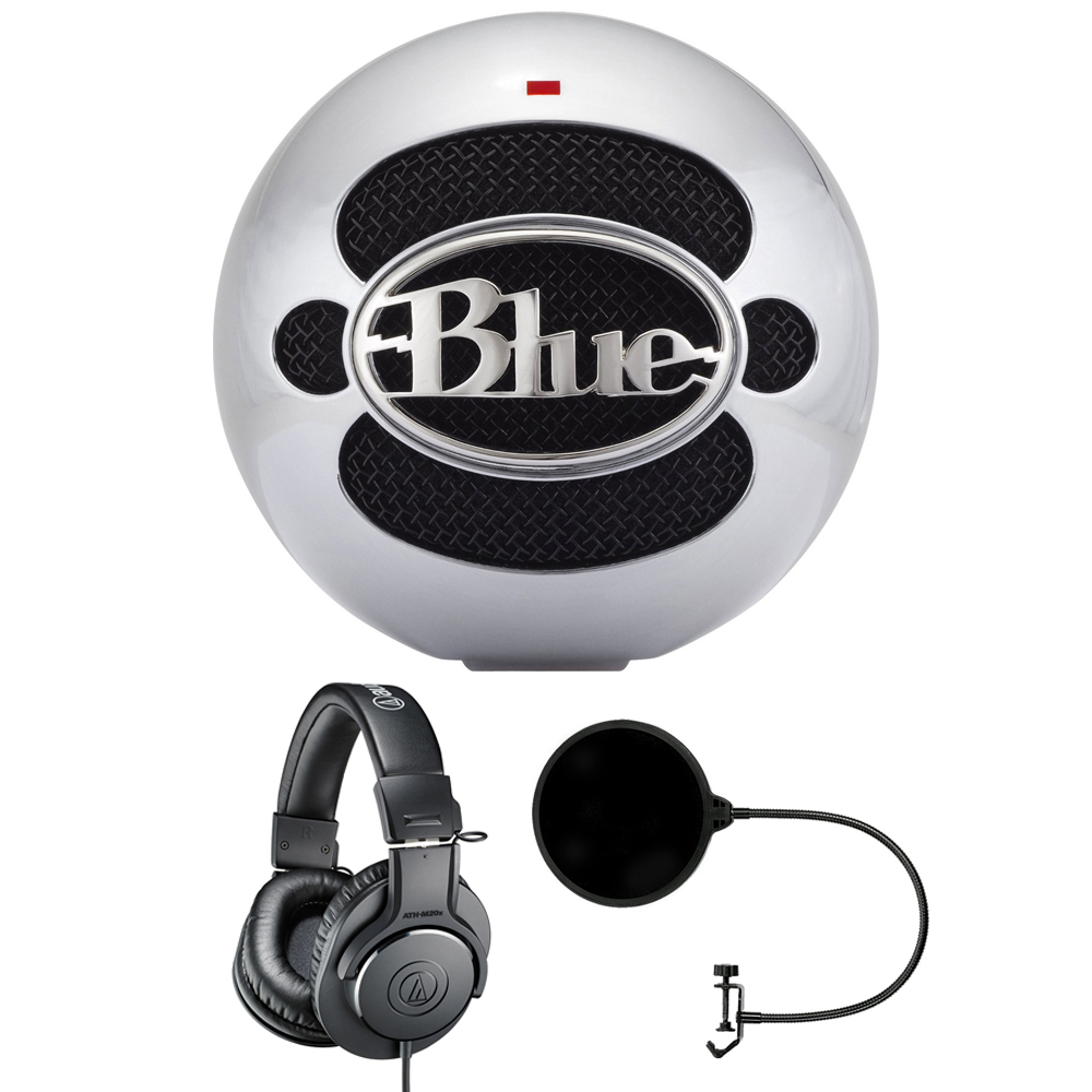 Blue Microphones Snowball USB Microphone Aluminum (SNOWBALLALUMINUM) with Audio-Technica... by Blue Microphones