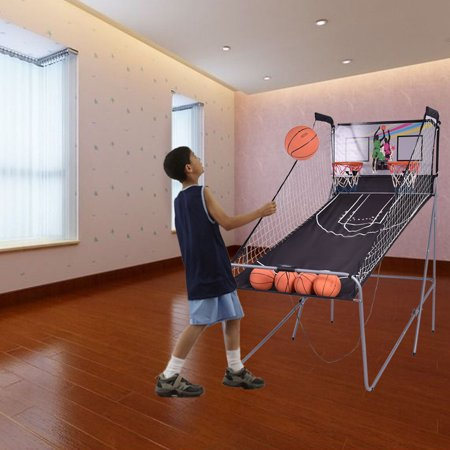 Sweet Basketball Shots (Costway Indoor Basketball Arcade Game Double Electronic Hoops shot 2 Player W/ 4 Balls)