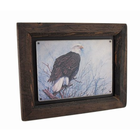 Carvers Eagle Spirit Of Freedom Wall Art, Rustic, solid wood frame By Big Sky Ship from US