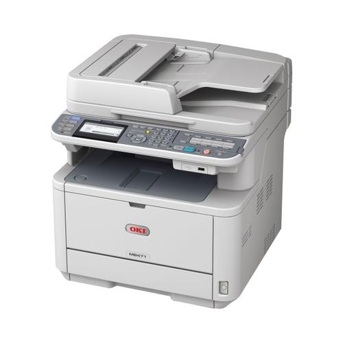 Oki MB471 LED Multifunction Printer - Monochrome - Plain Paper Print - Deskto...