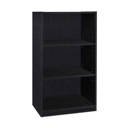 - Furinno JAYA Simple Home 3-Tier Adjustable Shelf Bookcase, Blackwood