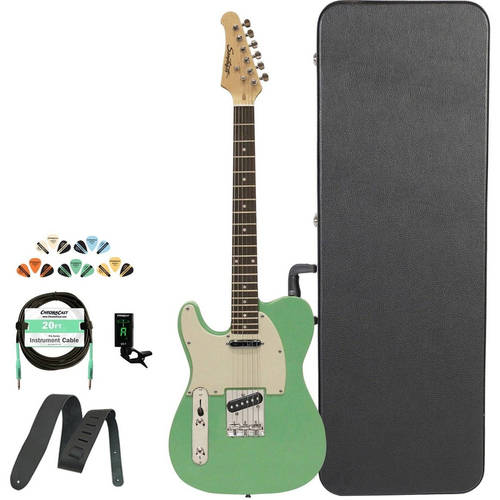 Sawtooth Classic ET 50 Ash Body Electric Guitar Kit with ChromaCast Hard Case & Accessories