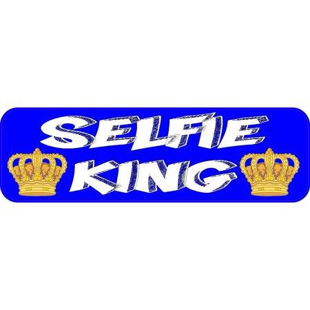 10in x 3in selfie king sticker vinyl funny bumper decal window stickers