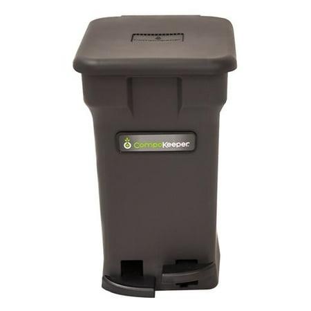 Boulder Clean CompoKeeper Kitchen Compost Bin-Black, 6 gal (Stores In Boulder)