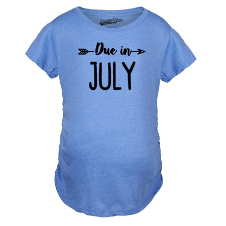 Maternity Due In July Funny T shirts Pregnant Shirts Announce Pregnancy Month Shirt](Halloween Announce Pregnancy)