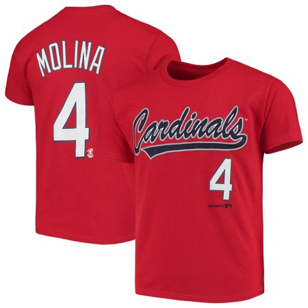Kid Friendly Halloween St Louis (Youth Yadier Molina Red St. Louis Cardinals Name & Number)