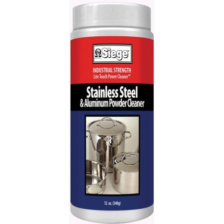 P-11P, Siege Stainless Steel & Aluminum Powder Cleaner 12 oz. Made in USA ()
