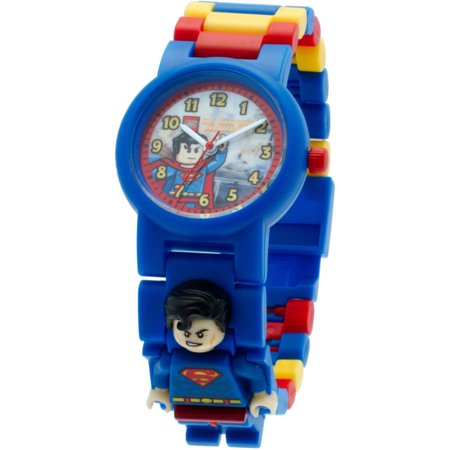 Lego Super Heroes Superman Kids Minifigure Interchangeable Links Watch