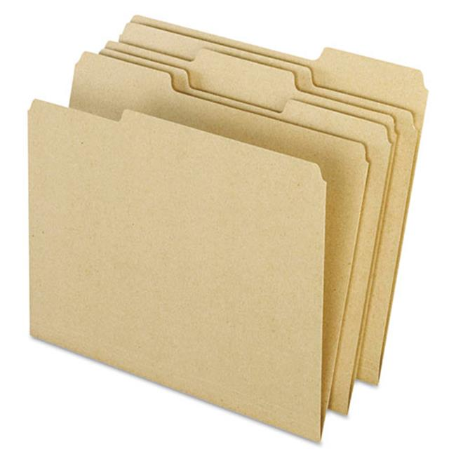 1 By 3 Top Tab Earthwise Recycled Colored File Folders - Letter, Natural - image 1 of 1