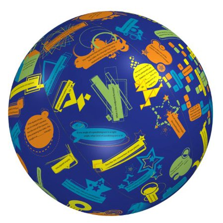 American Educational Clever Catch Balls - American Educational Vinyl Geometry 1 Clever Catch Ball, 24' Diameter
