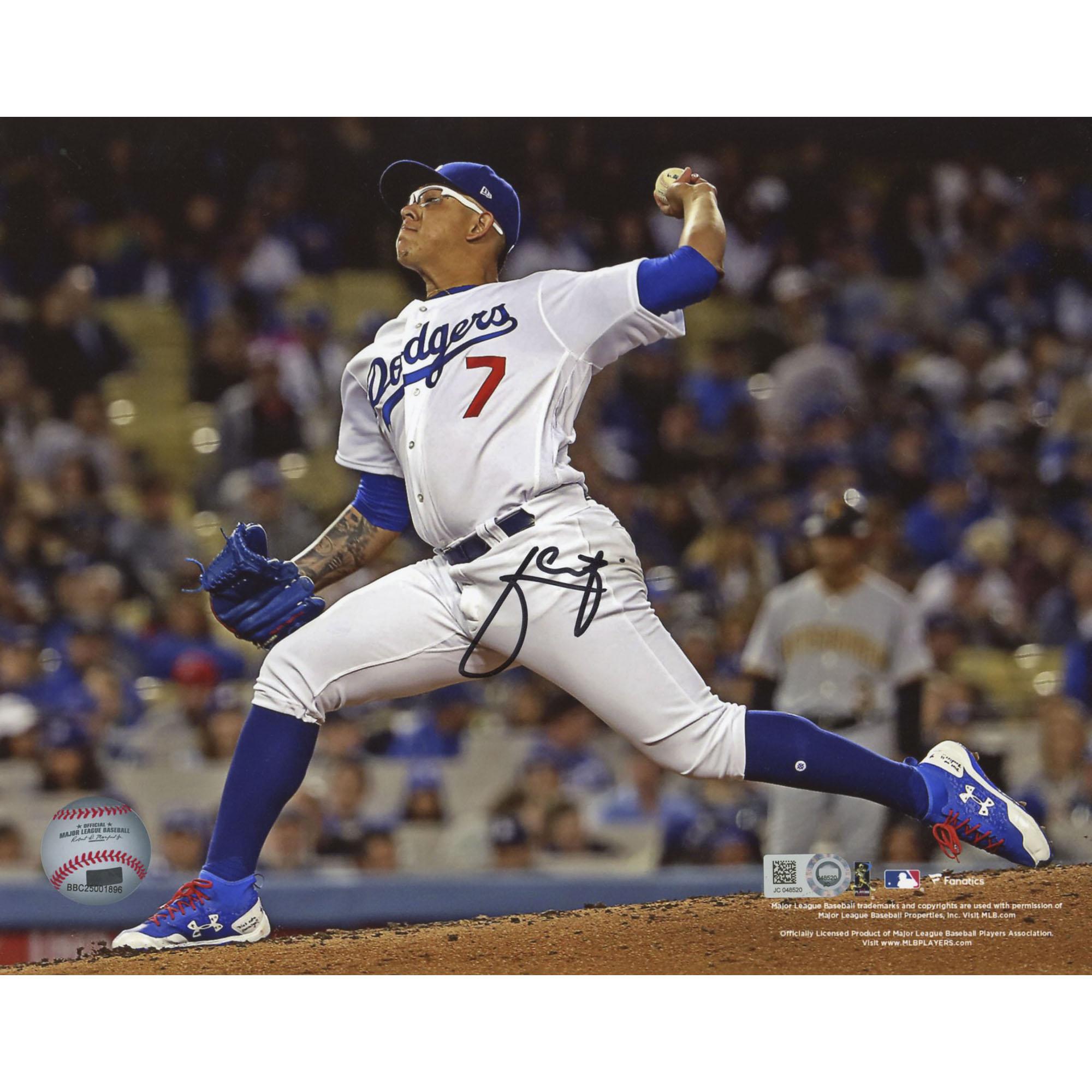 "Julio Urias Los Angeles Dodgers Fanatics Authentic Autographed 8"" x 10"" Pitching Photograph - No Size"