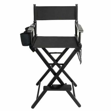High Quality Solid Hardwood & Polyester Folding Makeup Chair Black - Walmart.com