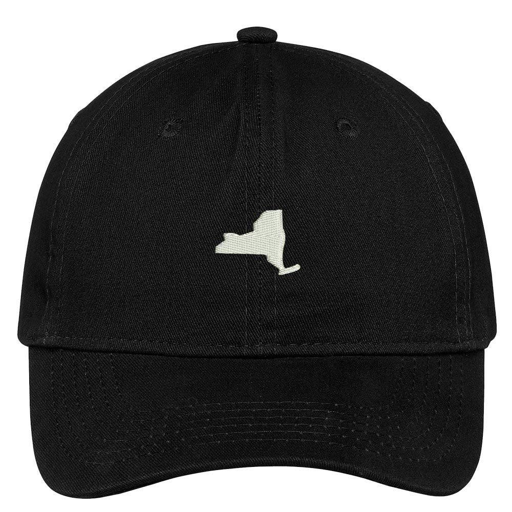 ad0814288da Trendy Apparel Shop New York State Map Embroidered Low Profile Soft Cotton  Brushed Baseball Cap