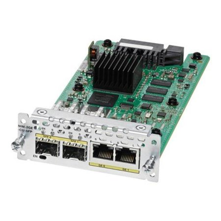 NIM-2GE-CU-SFP- 2 Port Gigabit Ethernet Wan Network Interface Module, Dual-Mode Network Security ()