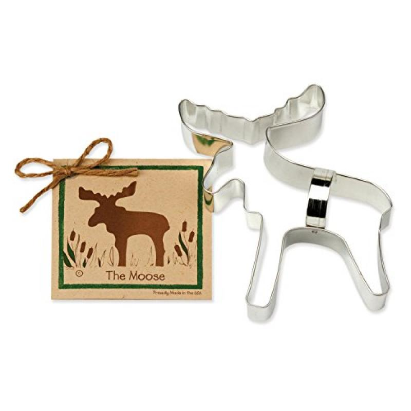 Moose Cookie and Fondant Cutter - Ann Clark - 6.3 Inches - US Tin Plated Steel