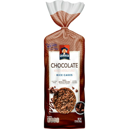 Quaker Rice Cakes, Chocolate Crunch, 7.23 oz Bag