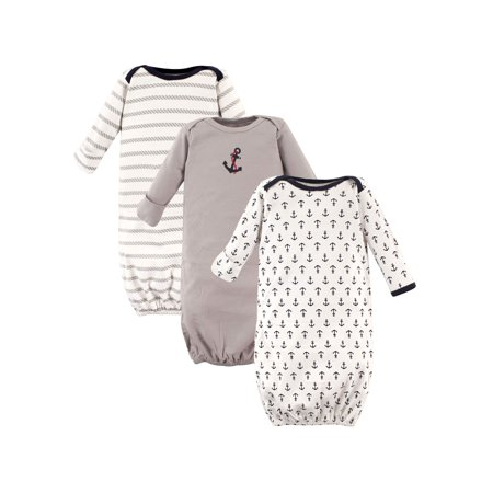 Baby Boy Gowns, 3-Pack