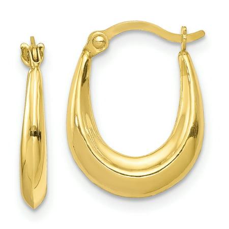 10k Yellow Gold Hoop Earrings Ear Hoops Set