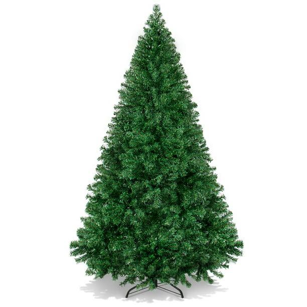 Best Choice Products 6ft Premium Hinged Artificial Christmas Pine Tree W 1 000 Tips Metal Base Green Walmart Com Walmart Com