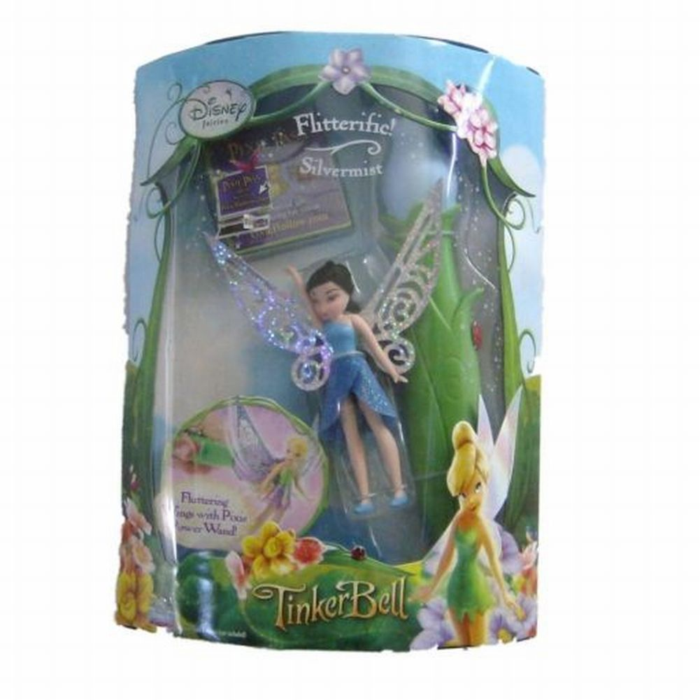 Disney Fairies Flitterific Silvermist Doll with Fluttering Fairy Wings by Playmates