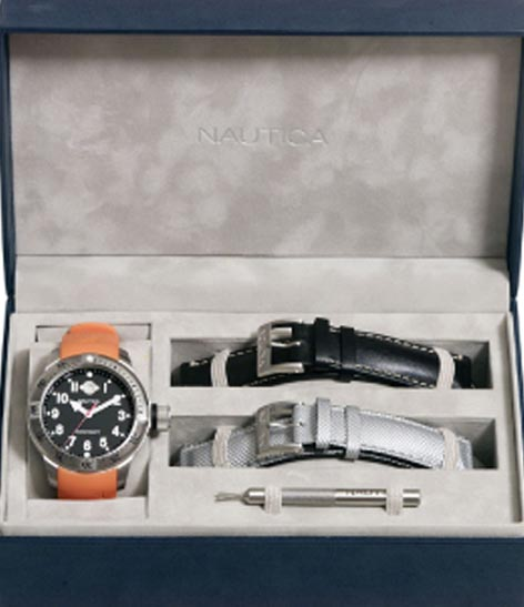 NAUTICA MEN'S WATCH BFC DIVER BOX SET 37MM by Nautica
