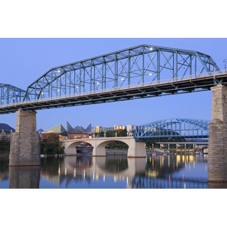Walnut Street Bridge over the Tennessee River, Chattanooga, Tennessee, United States of America Print Wall Art By Richard (Longest Bridge In The United States Over Water)