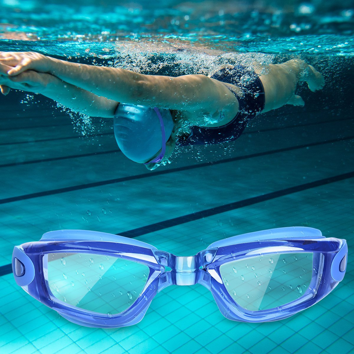 Swimming Goggles No Leaking Anti Fog UV Protection by StillCool