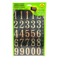 "Hy-Ko 2"" Vinyl Black and Gold Self-adhesive Sticker Number & Symbol Kit"