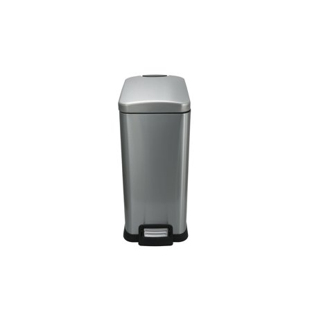 Rectangular Hinged Lid - Better Homes and Gardens 3.9 Gallon Slim Rectangular Stainless Steel Waste Can with Soft Close Lid