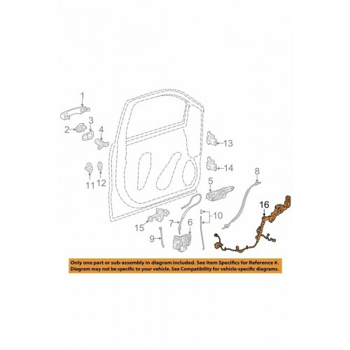 GM 23342729 Left Trailer Tow Mirror Wiring Harness