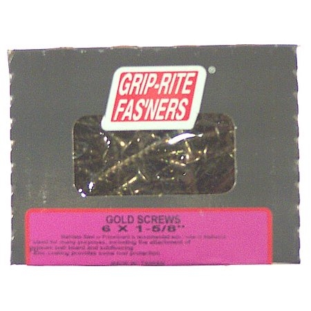 Grip-Rite 1-5/8 in. Gold Screws for General Construction (1.05 (Gold Screw Italian)