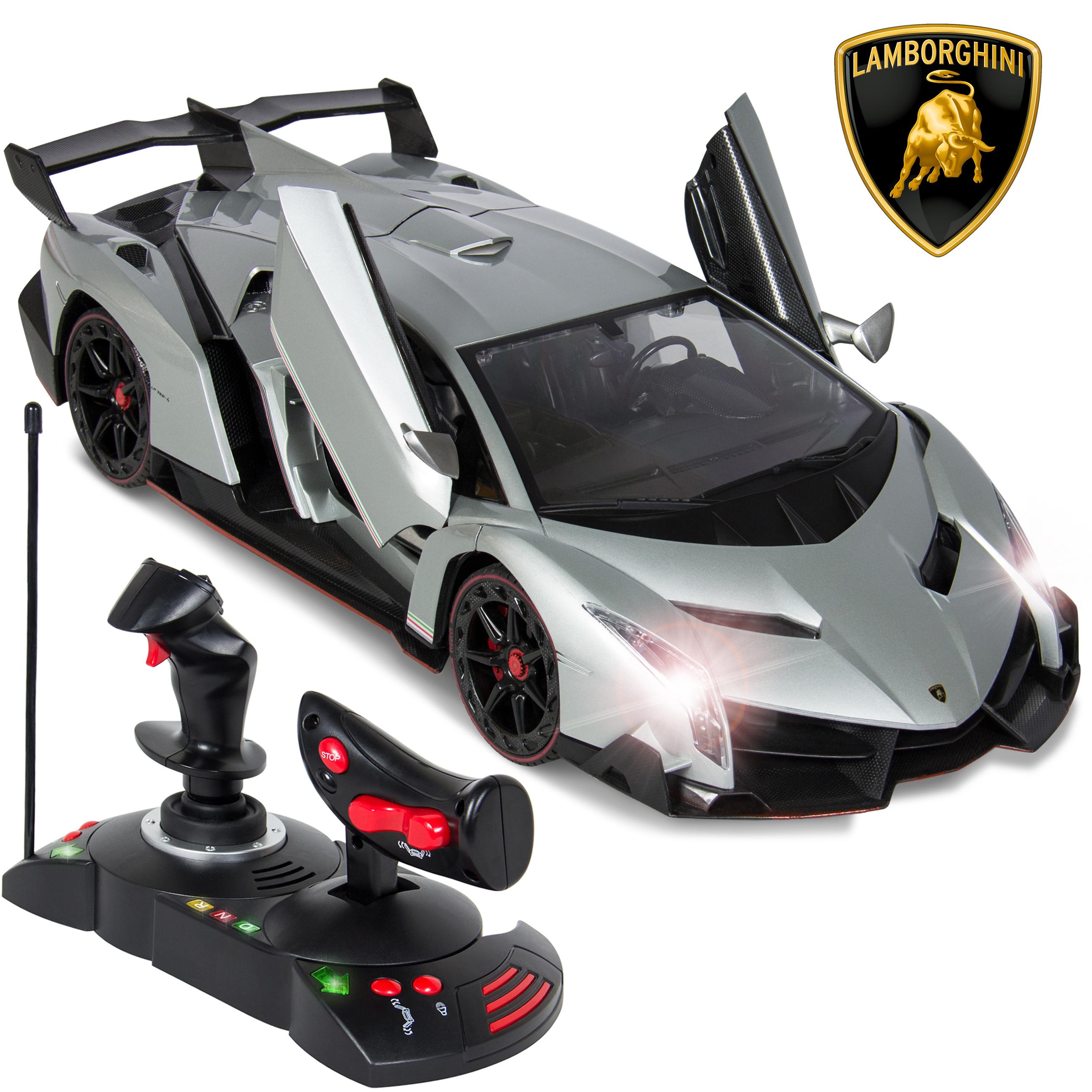 Best Choice Products 1/14 Scale RC Lamborghini Veneno Gravity Sensor Radio Remote Control Car Silver