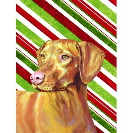 11 x 15 in. Vizsla Candy Cane Holiday Christmas Garden Size Flag - image 1 of 1