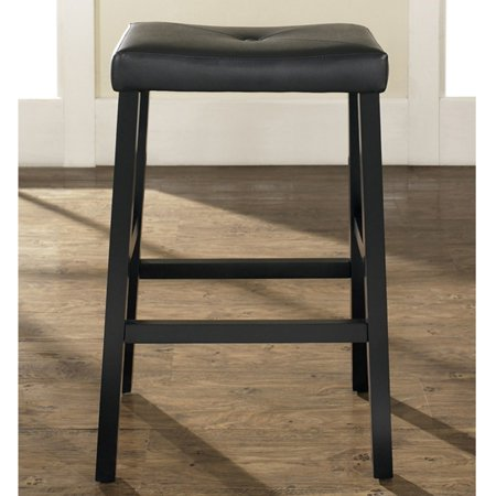 - Crosley Furniture Upholstered Saddle Seat Bar Stool with 29