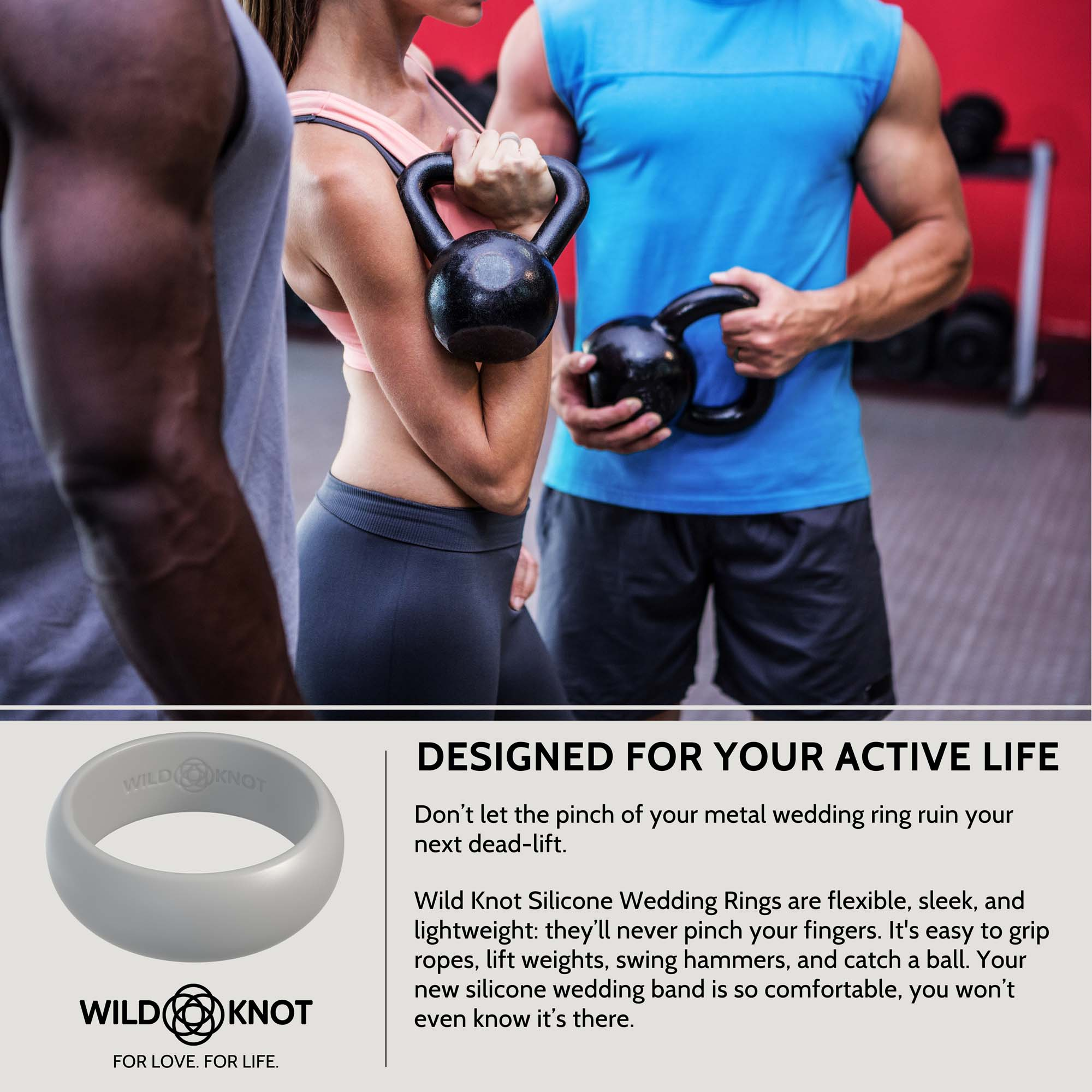 Wild Knot Wild Knot Silicone Wedding Rings For Men High